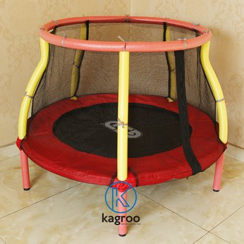 Bạt nhún nhỏ 120cm - vòng tay vịn (Mini Trampoline With Armrest Fence 48inch) - KR48in-AF