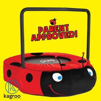 Bạt Nhún Nhỏ 91cm - Tay Vịn - Bọ Cánh Cứng (Mini Trampoline With Handle - Beetle 36inch) - KR36in-HDL- Beetle