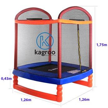 Bạt Nhún Lớn 1,26m x 1,26m - Chân Bọc Nhựa (Big Trampoline 5,2ft With Plastic Legs) - KR5,2FT-CN