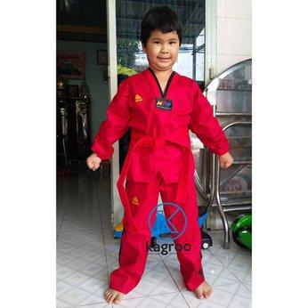 Võ Phục Taekwondo - Hiệu Adidas - Vải Kim Cương Vuông
