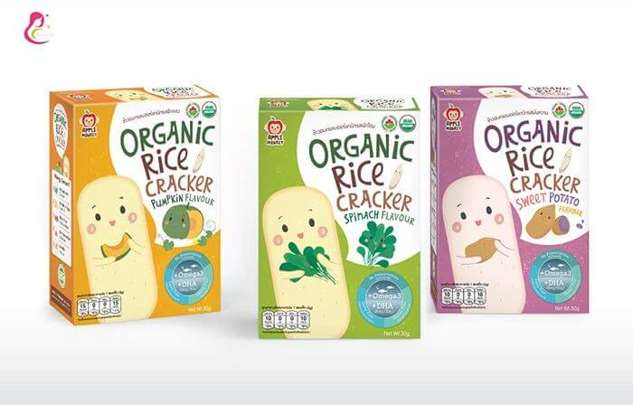 Bánh ăn dặm Organic Apple Monkey