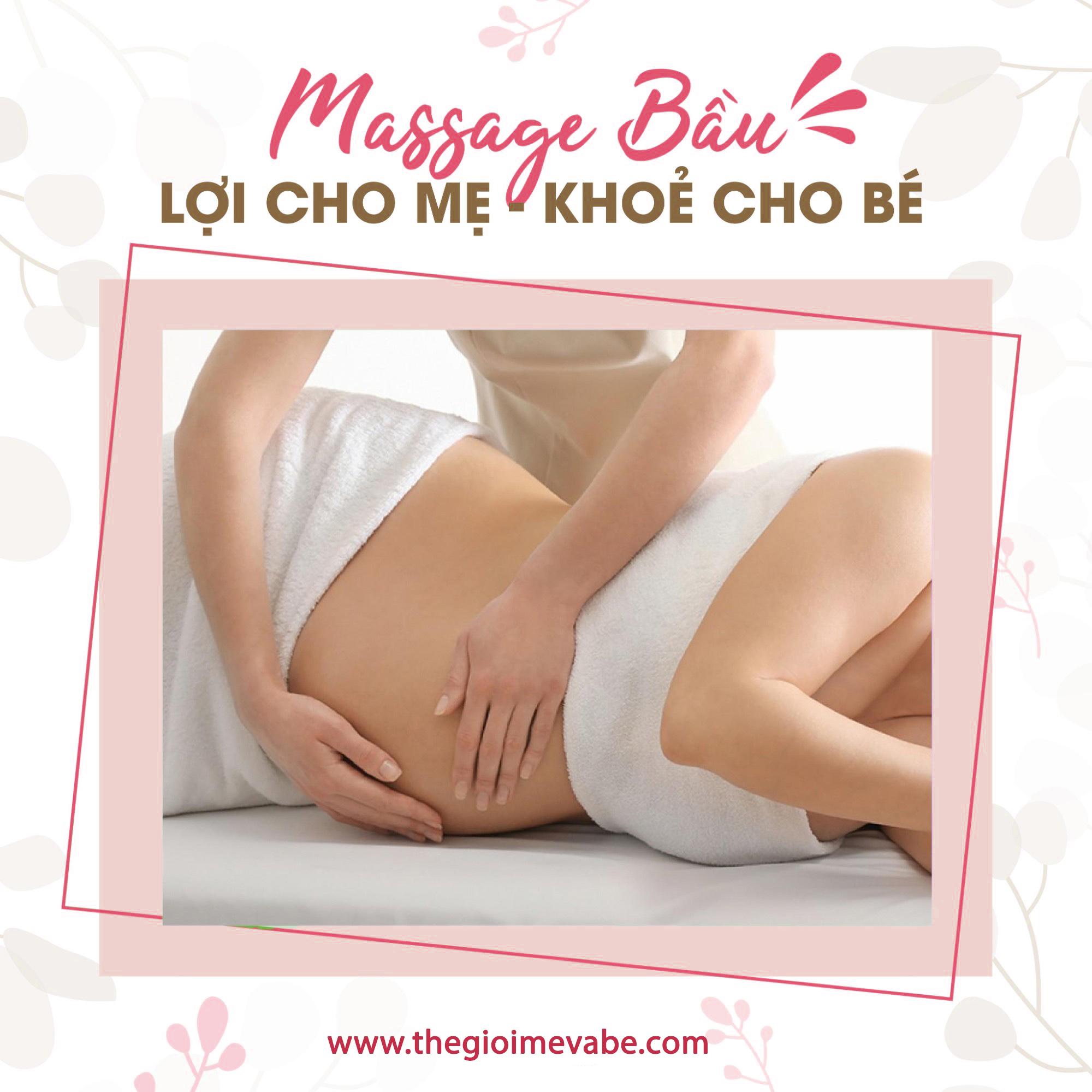 Dịch vụ massage bầu tại nhà