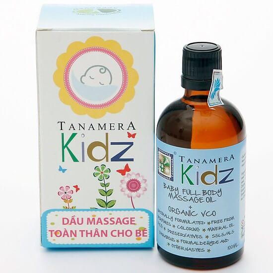 Dầu massage toàn thân cho bé Tanamera Kidz