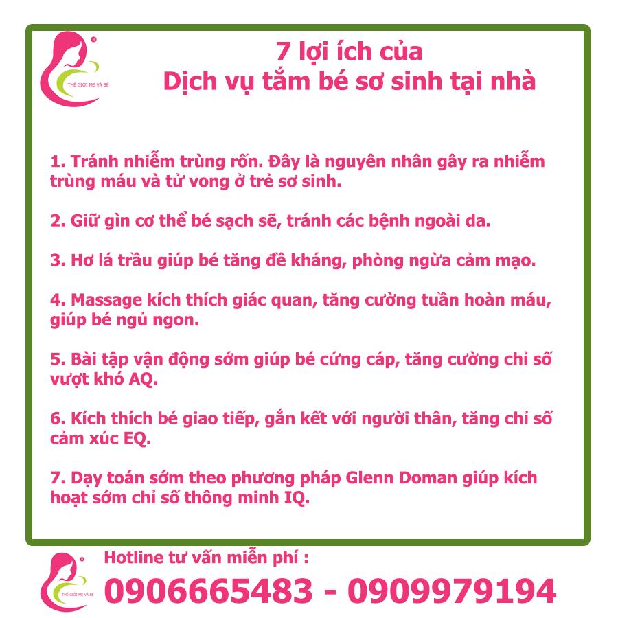 7 lợi ích của dịch vụ tắm bé sơ sinh tại nhà