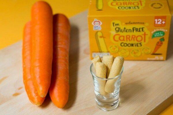 Bánh ngón tay gluten free vị cà rốt