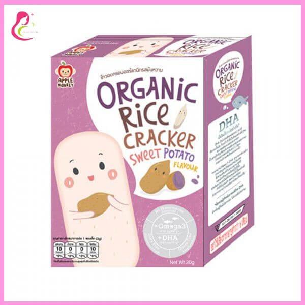 Bánh gạo organic - Bổ sung Omega 3 & DHA