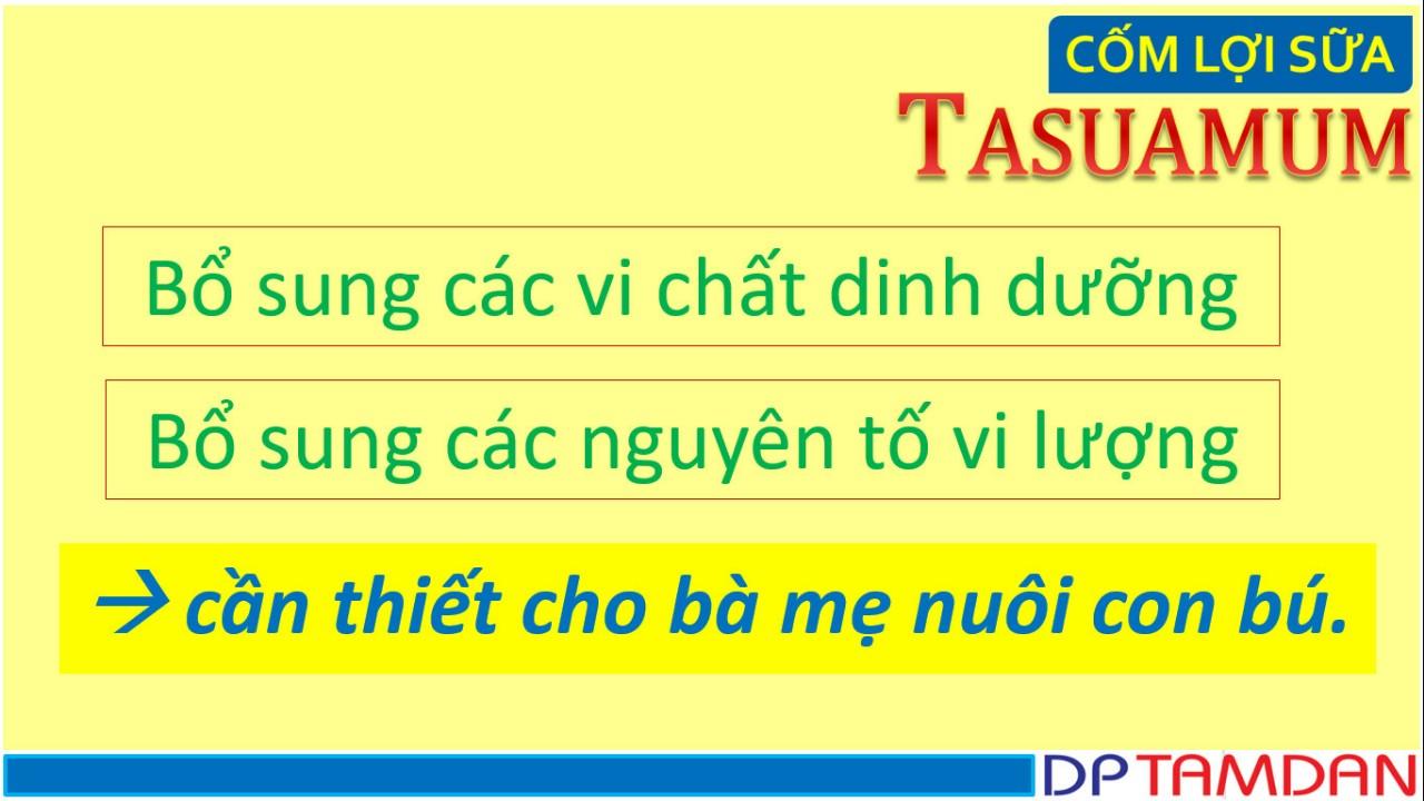 Cốm Lợi Sữa TASUAMUM (40 túi)