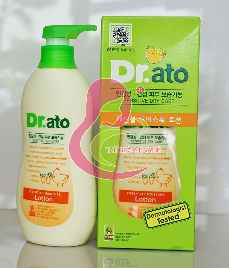Kem dưỡng dẩm da cho bé Dr Ato