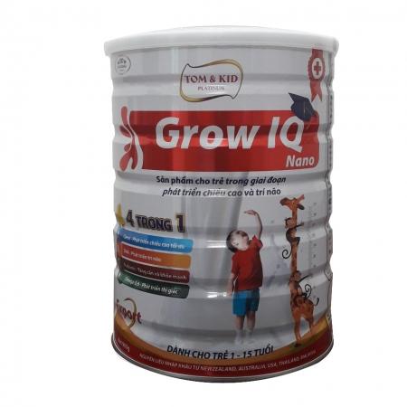 Tom & Kid Platinum Grow IQ nano - Sữa dành cho trẻ từ 1-15 tuổi