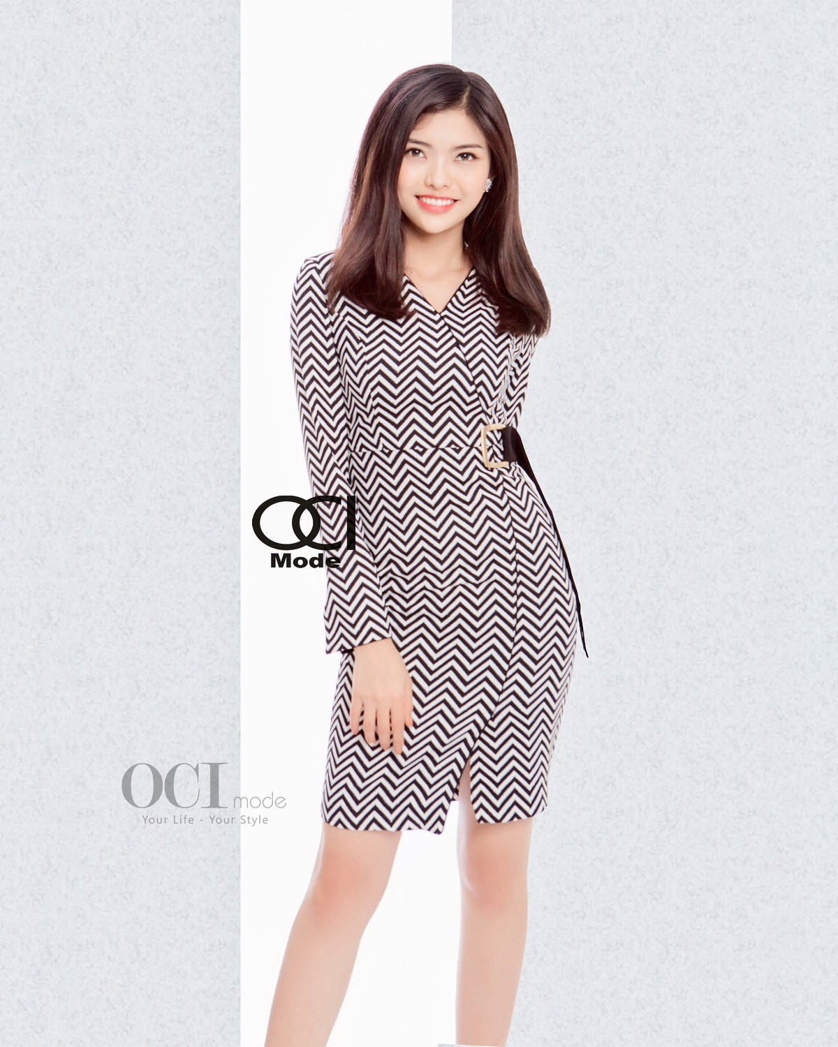 Choline Dress - Black & White
