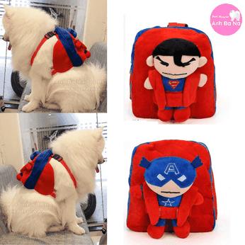 Balo cho chó hình siêu nhân
