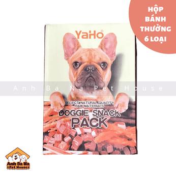 Bánh thưởng cho chó Yaho hộp lớn 800 gram (6 gói)