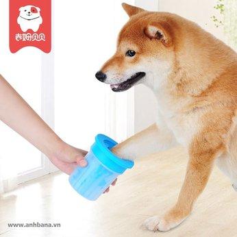 Bình rửa chân cho chó