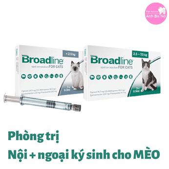 Thuốc Broadline phòng trị nội ngoại ký sinh trùng cho MÈO
