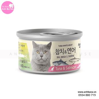 Cá hộp cho mèo Tuna White Meat & Salmon