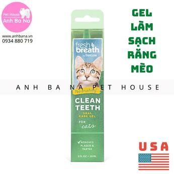 Gel làm sạch răng miệng cho mèo Tropiclean