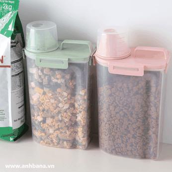 Bình chứa thức ăn chó mèo cao cấp