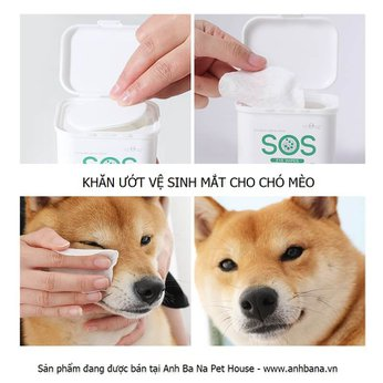Khăn vệ sinh mắt chó mèo SOS