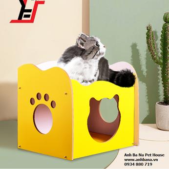 Nhà gỗ cho mèo lắp ráp
