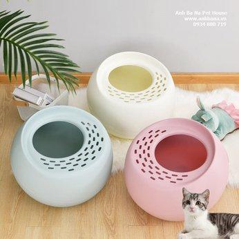 Nhà vệ sinh cho mèo hình tròn