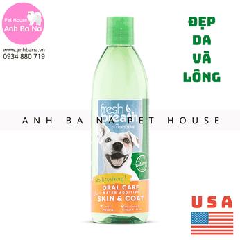 Nước vệ sinh răng miệng cho chó mèo, đẹp da lông Tropiclean