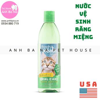 Nước uống vệ sinh răng miệng cho mèo Tropiclean