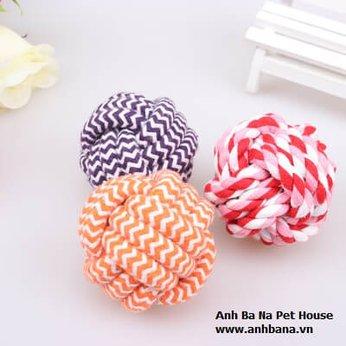 Quả bóng đồ chơi bằng vải cho chó mèo