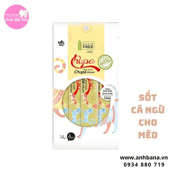 Sốt dinh dưỡng cá ngừ cho mèo Chupa Creamy