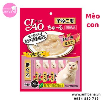 Sốt cho mèo con Ciao Churu (20 gói)