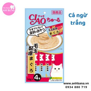 Sốt cho mèo Ciao cá ngừ trắng (4 gói)