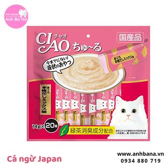 Sốt cá ngừ cho mèo Ciao Churu (20 gói)