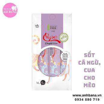 Sốt dinh dưỡng cho mèo cà ngừ & mực Chupa Creamy