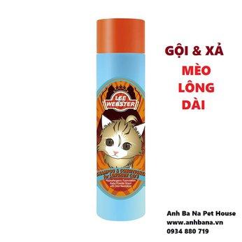 Sữa tắm cho mèo lông dài Lee&Webster (Gội và xả)