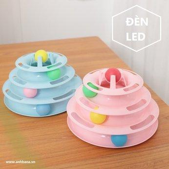 Tháp cào đồ chơi cho mèo có đèn LED