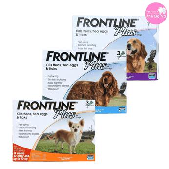 Thuốc nhỏ gáy phòng trị ve, bọ chét cho chó Frontline Plus