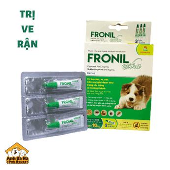 Thuốc trị ve, rận, bọ chét cho chó Fronil Extra