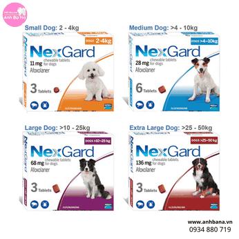 Thuốc trị viêm da cho chó Nextgard (Trị ve, rận, ghẻ...)