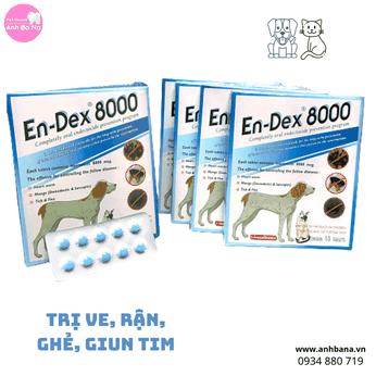 Trị ve rận, ghẻ, giun tim chó mèo En-Dex 8000
