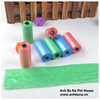 Túi ni lông hốt phân chó mèo (10 cuộn)
