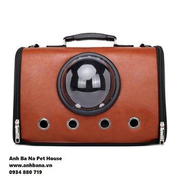 Túi xách chó mèo bằng da cao cấp ABN04