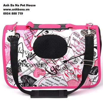 Túi xách mèo màu hồng Discovery