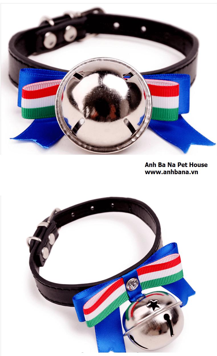 Vòng đeo cổ chó mèo bằng da
