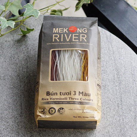 Bún Tươi Ba Màu Rice Vermicelli Three Colours 300g