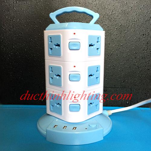Ổ Điện Tháp 3 Tầng USB