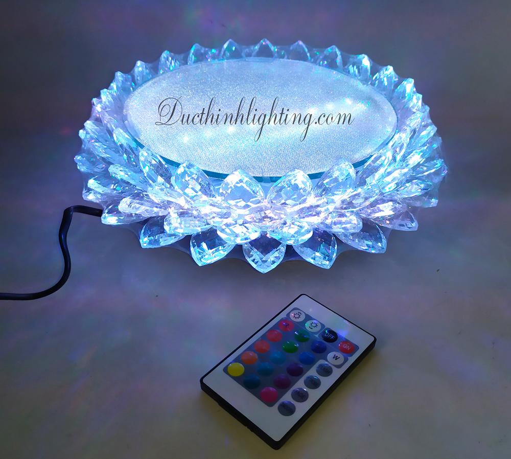 Đài Sen Pha Lê LED Đổi Màu Φ18