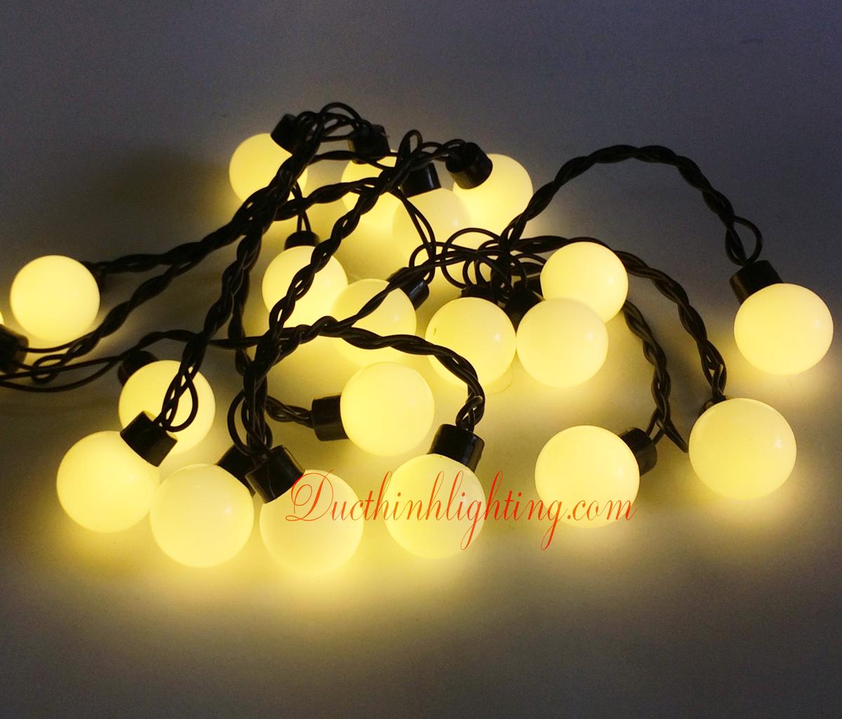 Dây Đèn LED Bi 4 Cm Vàng Nắng