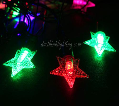 Dây Đèn LED Ngôi Sao 40 Bóng Đủ Màu