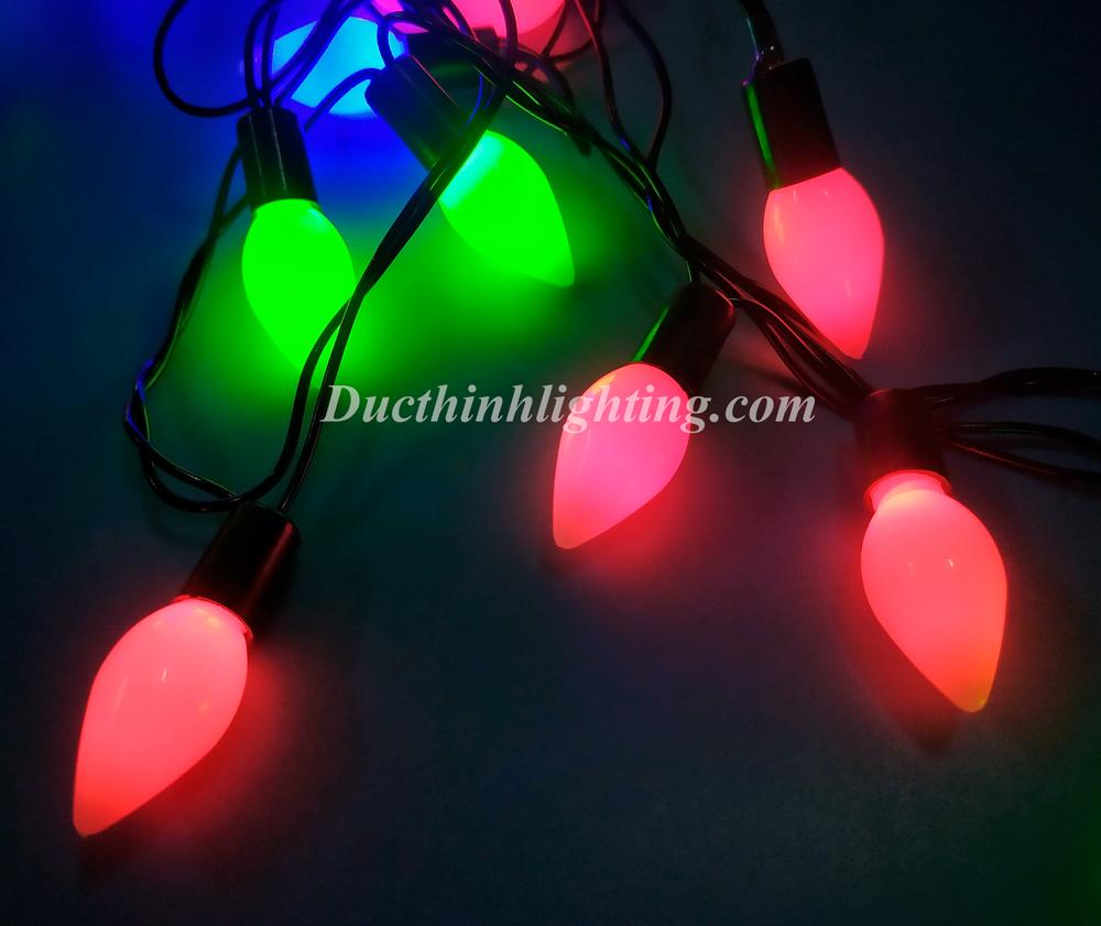 Dây Đèn Chớp LED Cà Na 40 Bóng Đủ Màu