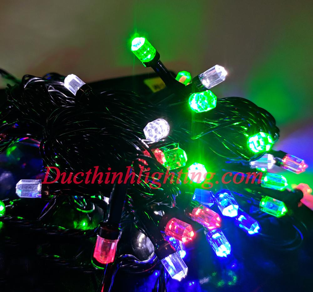 Dây Đèn Chớp LED Lục Giác Đủ Màu 10m