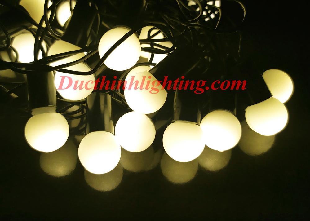 Dây Đèn LED Bi Vàng Nắng 40 Bóng